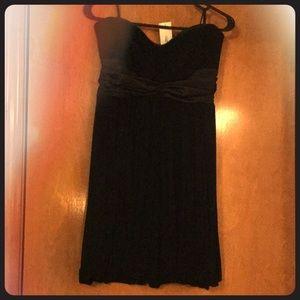 NWT Black strapless 2b Bebe dress!